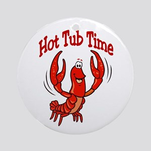 Crawfish Hot Tub Time Ornament (Round)