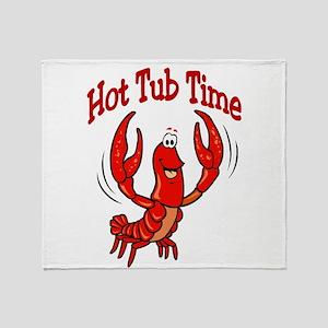 Crawfish Hot Tub Time Throw Blanket