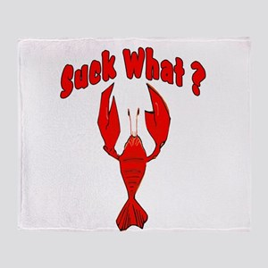Crawfish Suck What Throw Blanket