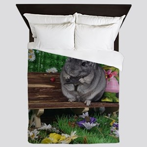 ebony chinchilla Queen Duvet