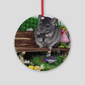 ebony chinchilla Ornament (Round)