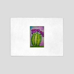 Purple cactus, southwest art 5'x7'Area Rug