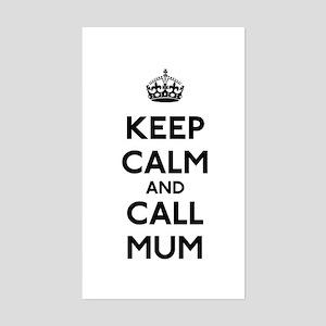 Keep Calm and Call Mum Sticker (Rectangle)