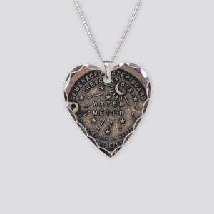 New Orleans Water Meter Necklace Heart Charm