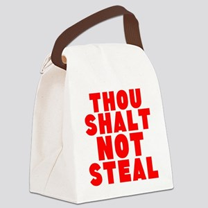 Thou Shalt Not Steal Canvas Lunch Bag