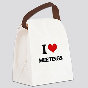 I Love Meetings Canvas Lunch Bag