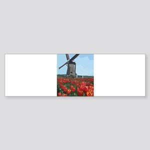 Wind Mill Bumper Sticker