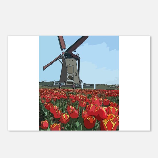 Wind Mill Postcards (Package of 8)