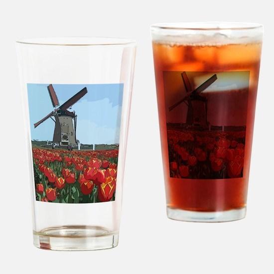 Wind Mill Drinking Glass