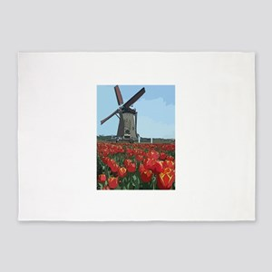 Wind Mill 5'x7'Area Rug