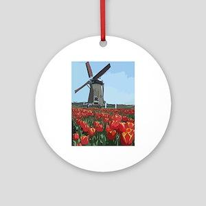 Wind Mill Ornament (Round)
