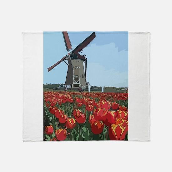 Wind Mill Throw Blanket
