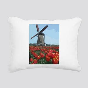 Wind Mill Rectangular Canvas Pillow
