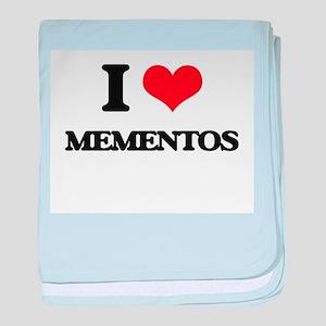 I Love Mementos baby blanket