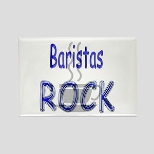 Baristas Rock Rectangle Magnet