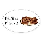 Waffles Wizard Sticker (Oval 10 pk)