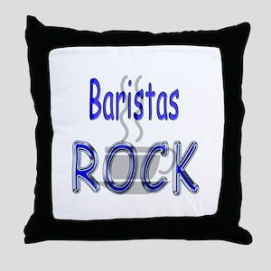 Baristas Rock Throw Pillow