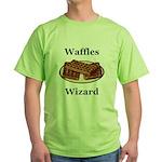 Waffles Wizard Green T-Shirt