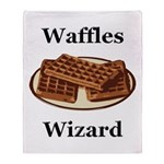 Waffles Wizard Throw Blanket