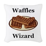 Waffles Wizard Woven Throw Pillow