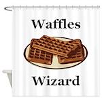 Waffles Wizard Shower Curtain