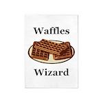 Waffles Wizard 5'x7'Area Rug