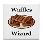 Waffles Wizard Tile Coaster