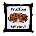 Waffles Wizard Throw Pillow