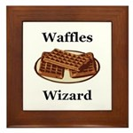 Waffles Wizard Framed Tile