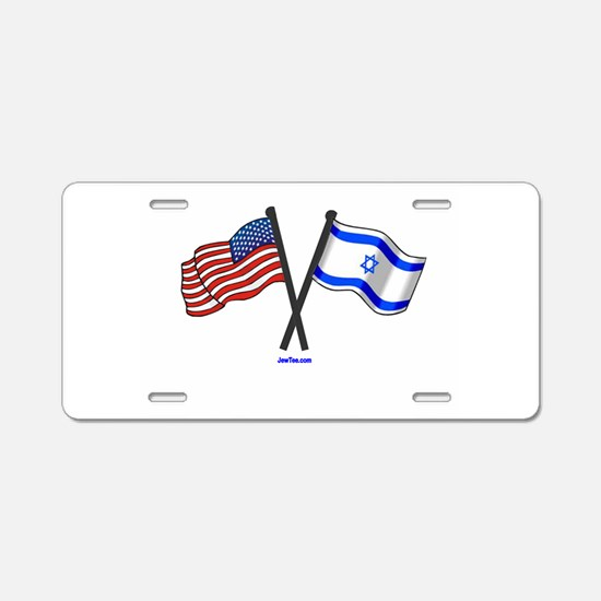 American Israel Flags JewTee.png Aluminum License