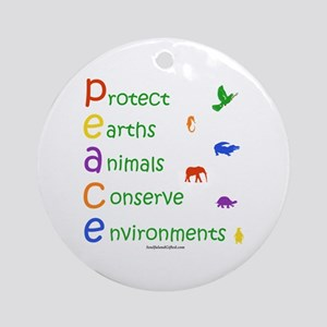 Colorful Peace Ornament (Round)