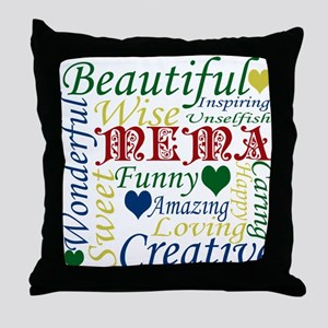 Mema Throw Pillow