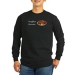 Waffles Hunter Long Sleeve Dark T-Shirt