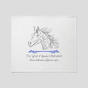 ARABIAN HORSE PROVERB Throw Blanket