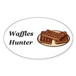 Waffles Hunter Sticker (Oval 50 pk)