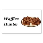 Waffles Hunter Sticker (Rectangle 50 pk)