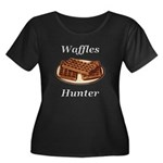 Waffles Women's Plus Size Scoop Neck Dark T-Shirt