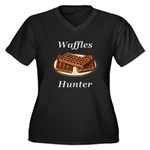 Waffles Hunt Women's Plus Size V-Neck Dark T-Shirt