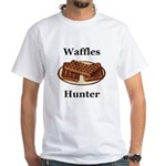Waffles Hunter White T-Shirt