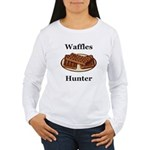 Waffles Hunter Women's Long Sleeve T-Shirt