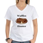 Waffles Hunter Women's V-Neck T-Shirt