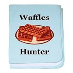 Waffles Hunter baby blanket