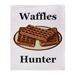Waffles Hunter Throw Blanket