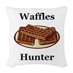Waffles Hunter Woven Throw Pillow