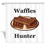Waffles Hunter Shower Curtain