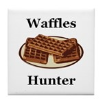 Waffles Hunter Tile Coaster