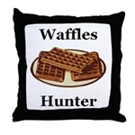 Waffles Hunter Throw Pillow