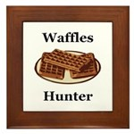 Waffles Hunter Framed Tile
