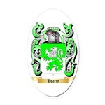 Hearty Oval Car Magnet