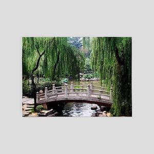 Asian garden, 5'x7'Area Rug